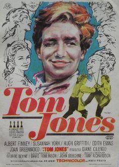 Folleto del film . TON JONES.ALBERT FINNEY- SUSSANHA YORK