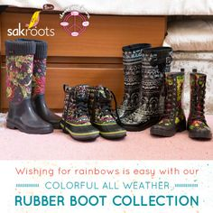 Wishing for rainbows is easy with our colorful all weather rubber boot collection. Choose your favorite style from our tall in classic or quilted, our new on-trend duck boot or our lace up combat!