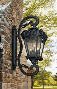 With its heavy textures, dark tones, and fine attention to detail, the Tournai Outdoor Wall Light showcases a classic style unlike other wall lights. It's a fantastic addition to traditional outdoor home design themes! Farmhouse Light Fixtures, Outdoor Light Fixtures, Farmhouse Lighting, Outdoor Wall Lantern, Outdoor Wall Sconce, Outdoor Walls, Overhead Lighting, Outdoor Lighting, Exterior Lighting