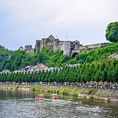 The Chateau du Bouillon towers over the Semois River in the Belgian Ardennes. #Belgium #Wallonia