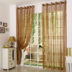 The beautiful curtains design can add different sense to your room. This coffee sheer curtain is luxury and noble. The pattern and nest design are unique and fashion, which can decorate your room. This sheer can be used alone. Nest Design, Beautiful Curtains, Curtain Designs, Decorate Your Room, Sheer Curtains, Modern House Design, Living Room Designs, Room Decor, Luxury