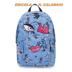 1f4a934097 Dettagli su Faccine Zaino Invicta DIAL FACE PACK Fantasy Girl Azzurro –  206001856-526