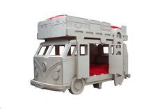 VW Camper Van Themed Bunk Bed by Fun Furniture Collection, Home of Themed Childrens Beds,Toy Boxes and Storage