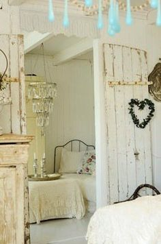 Shabby chic room with heart