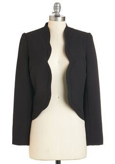 Epitome Oh My Blazer. Summing up your effortlessly cool taste is simple - just take one look at this black blazer! #black #modcloth