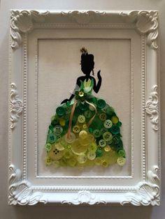 Disney princess framed button canvas by on Etsy - Ideas In Crafting Disney Diy, Disney Crafts, Disney Button Art, Disney Buttons, Fun Crafts, Diy And Crafts, Crafts For Kids, Arts And Crafts, Button Canvas