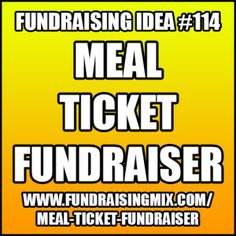 Organize a dining fundraiser that lets people pay for someone else's meal! #fundraising #fundraiser #ideas #meal #ticket #food
