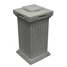 Good Ideas Savannah Column Outdoor Storage Bin - Light Granite