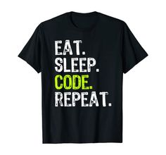 Mad Over Shirts White Alive Eat Sleep Code Programmer Saying Unisex Premium Racerback Tank top