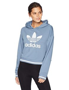 0ed10e9449647d adidas Originals Women s Active Icons Cropped Hoodie
