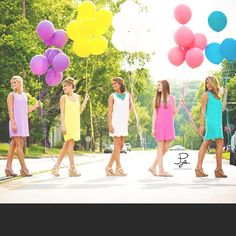 This would be cute for the rehearsal You could have one balloon for each year the bridesmaid has known the bride.