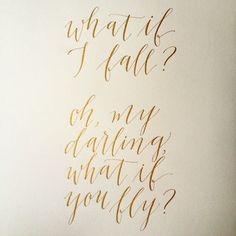 Script Merchant Calligraphy #quote #inspiration #gold #ink