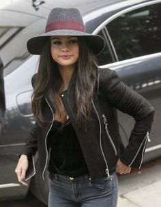 Singer Selena Gomez is pictured arriving at the ITV studios for a guest appearance on the 'Alan Carr: Chatty Man' Show.