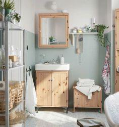 IKEA Catalogue 2016 - big mirrored cabinet for bathroom? Bad Inspiration, Bathroom Inspiration, Casa Muji, Ikea Lillangen, Ikea Catalogue 2016, Ikea Bathroom Shelves, Bathroom Rugs, Master Bathroom, Bathroom Renovations