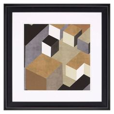 Paragon Cubic In Neutral II Framed Wall Art, White