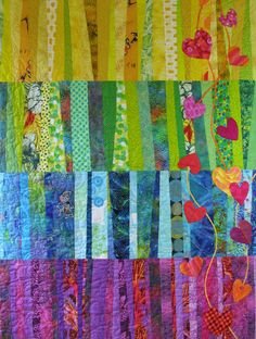 Quilt-J: Original Heart Strings Quilt