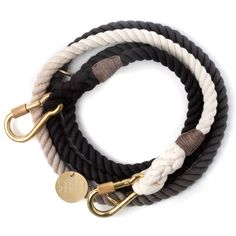 $62 Found My Animal | Black Ombre Rope Dog Leash, Adjustable Size M