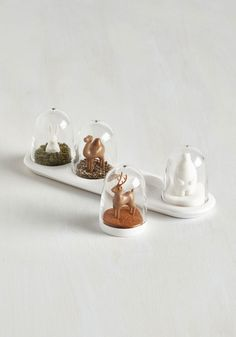 'Tis the Seasoning Shaker Set. Preparing each meal is an enchanting process when youve got these snowglobe-inspired shakers to sprinkle each dish with delight! #multi #modcloth