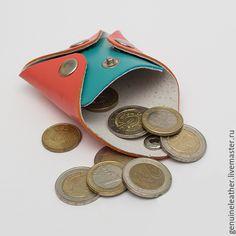 """Купить Кожаная монетница """"Квадро"""" - монетница, монетница хенд мейд, кожаная монетница, монетница из кожи"""