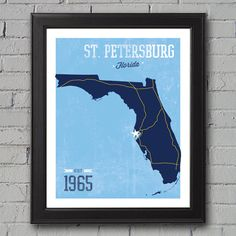 Tampa Bay Rays Print by UniversityPrints on Etsy, $12.00