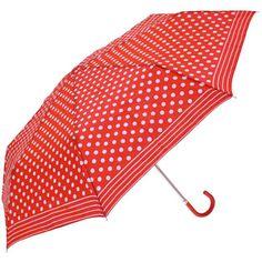 Red and white polka dot umbrella :)