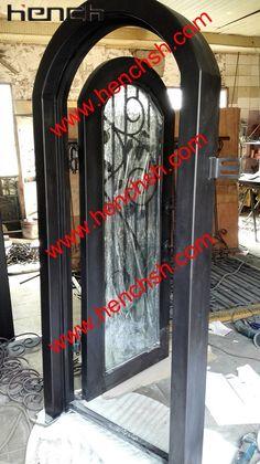 Hench private design luxury villa wrought iron entry doors wine doors v-t14