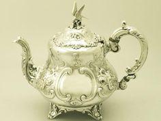 Old tea pots   Sterling Silver Teapot - Louis Style - Antique Victorian