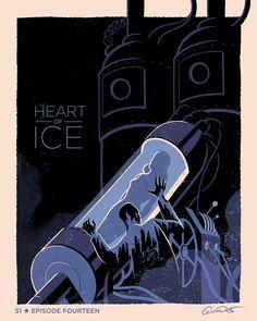 Batman The Animated Series Episodic Posters (Full Set) - Artwork by George Caltsoudas Batman Y Superman, Batman Poster, Batman Art, Batman Arkham, Batman Robin, Batman Animated Series Episodes, Ice Heart, Univers Dc, Arte Dc Comics
