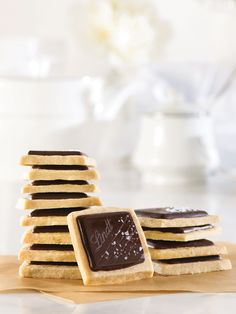 Add a twist to the classic shortbread cookie with Lindt Excellence chocolate and a touch of sea salt