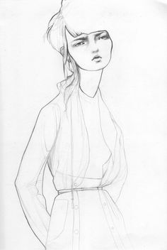 Fashion Sketch - contemporary fashion drawing; fashion illustration // Bijou Karman