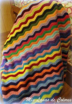 Manta ripple. Great way to use leftover yarn.