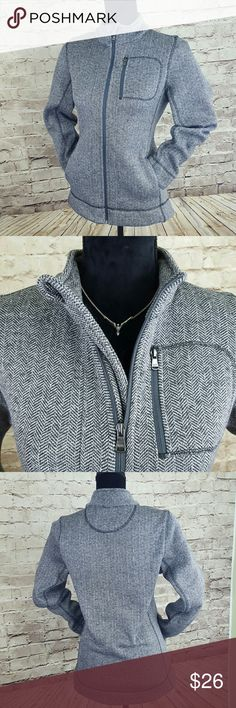 ANDREW MARC Marc New York Fleece Super plush, hardly worn! This grey herringbone full zip fleece will keep you toasty without alot of bulk. Slim silhouette looks great zipped all the way up, or worn open. Handwarmer pockets and zippered chest pocket are handy. Nice buy! I ship fast! Andrew Marc Jackets & Coats