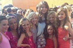 Kendall, Nia, Maddie, Paige, Mackenzie, Chloe, and Brooke with Miranda Cosgrove