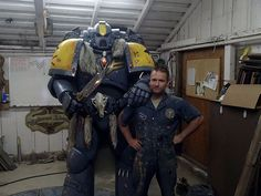 Space Wolf Cosplayer with suit designer