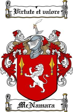 MCNAMARA FAMILY CREST - COAT OF ARMS gifts at www.4crests.com