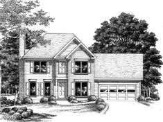 Eplans Colonial House Plan - Spirited Neighborhood Home - 1512 Square Feet and 3 Bedrooms from Eplans - House Plan Code HWEPL09324