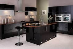 Here is modern style kitchen design by home furniture and interiors. find out more kitchen design at home design . Kitchen Room Design, Best Kitchen Designs, Home Decor Kitchen, Interior Design Kitchen, Kitchen Ideas, Kitchen Trends, Interior Modern, Kitchen Colors, Black Kitchens