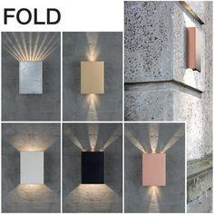 Fold vegglampe, 2x5W LED, valgfrie lysåpninger Wall Lights, Led, Lighting, Home Decor, Product Design, Homemade Home Decor, Appliques, Lights, Lightning