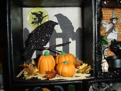 Pumpkins made from DAS paper clay and painted with Acrylic paints