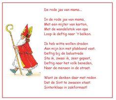 * Versje: In de rode jas van mama...