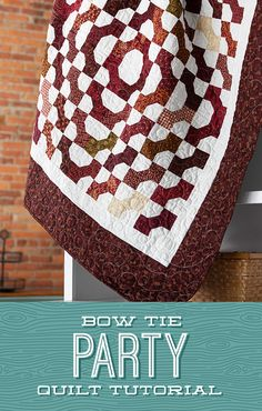 "Jenny is at it again with the Bow Tie Party quilt! In the latest tutorial from Missouri Star, Jenny uses 2.5"" strips of precut fabric to make an adorable bow tie design. It's quick, easy, and ""sew"" adorable! Follow the link below to watch this fantastic tutorial now! #MissouriStarQuiltCo #MSQC #BowTiePartyQuilt #BowTie #JennyDoan #HowToQuilt #Quilt #Quilting #Sewing #EasySewingProjects #StripQuilt #JellyRoll #EasyQuiltPattern #QuiltPattern #QuiltBlock #QuiltTutorial #FabricCrafts #Makers"