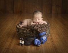 Sawyer's newborn #Oilers photo - John Douglas Kemp