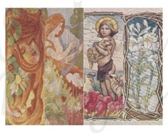 Art Nouveau digital image collage sheet, 4 bookmarks 2.5 x 7.5, PDF email ANB5 -    Edit Listing  - Etsy