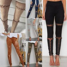 Chicken Eyes & Suede Leather Legging