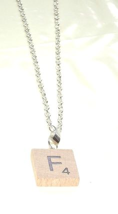 Personalised  F  Necklace~ Necklace~F Scrabble Necklace~RARE-New