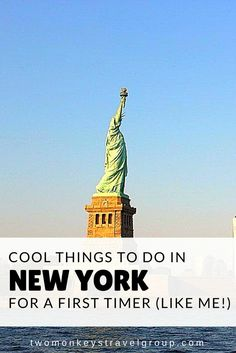 Cool Things to do in New York for a First Timer (like me!) Home to world famous attractions like Empire State Building, Statue of Liberty, Times Square and Central Park, New York City stands apart from the rest of the world. The city is a hub of art, culture, history, heritage, fashion and finance. Words fall short when it comes to explaining the grandeur of this city. Before you do the the things listed on this article, don't forget to experience the subway ride!