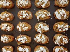 Grilled Pear + Goat Cheese Crostini: your new favorite holiday appetizer || Small World Supper Club