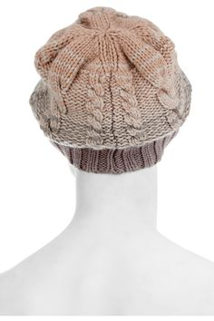 MISSONI  Oversized cable-knit cashmere beanie hat