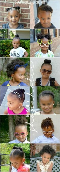 Back to School hair styles for curly kids via The Baby Shopaholic #naturalkids