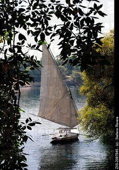Felucca sailing in the Nile - Aswan, Upper Egypt....so on my bucket list